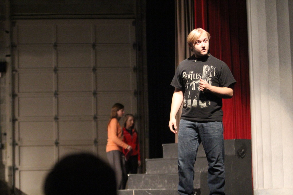 Junior John Nicol plays Hamlet in the upcoming spring play. Photo by Jackie Norman.